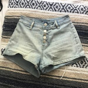 High wasted pacsun Kendall and Kylie shorts